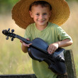 Young violinist — Stock Photo #4601839