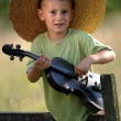 Young violinist — Stock Photo #4601840
