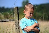 Little boy upset — Stock Photo