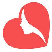 Women in heart — Stock Vector
