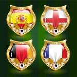Football emblem — Stock Photo