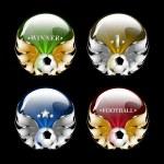 Vector football emblem — Stock Photo