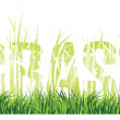"Grass and the words ""grass"" consisting of grass — Stock Photo #4658206"