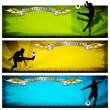 Soccer vector banners — Stock Photo