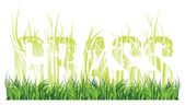"Grass and the words ""grass"" consisting of grass — Stock Photo"