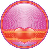 Heart internet button — Stock Photo