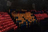 Prayer candles in Montserrat — Stock Photo