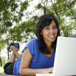 Woman with laptop — Stock Photo #3994521