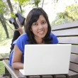Woman with laptop — Foto de Stock