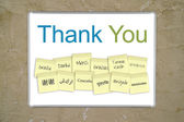 Thank you sign — Zdjęcie stockowe