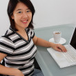 Working at home — 图库照片