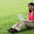 Woman with laptop — Stock Photo #5160672