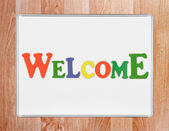 Welcome sign — Stock fotografie