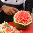 Stock Photo: Fruit carving