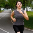 Woman jogging — Stock fotografie