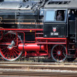 Old black and red locomotive - Stock fotografie