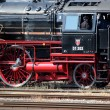 Old black and red locomotive - Foto de Stock