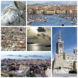 Marseilles, France, collage — Stock Photo