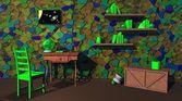зеленый исследование библиотека — Стоковое фото