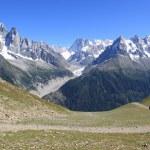 Mont-Blanc massif, France — Stock Photo