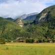 Stock Photo: Landscape with mountains, forests, houses in France