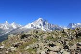 Mont-Blanc massif, Chamonix, France — Stock Photo