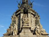 Base of Christopher Columbus memorial, Barcelona, Spain — Stock Photo