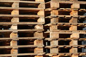 Wooden palettes — Stock Photo