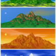 Mountain and four seasons — Stock Photo