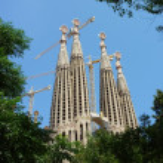 Sagrada familia church, Barcelona, Spain — Stock Photo