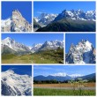 Mont-Blanc collage, France — Stock Photo
