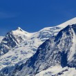Stock Photo: Beautiful snowy top of mountain in Alps