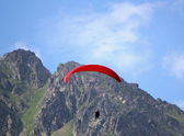 Paraglider flying — Stock Photo