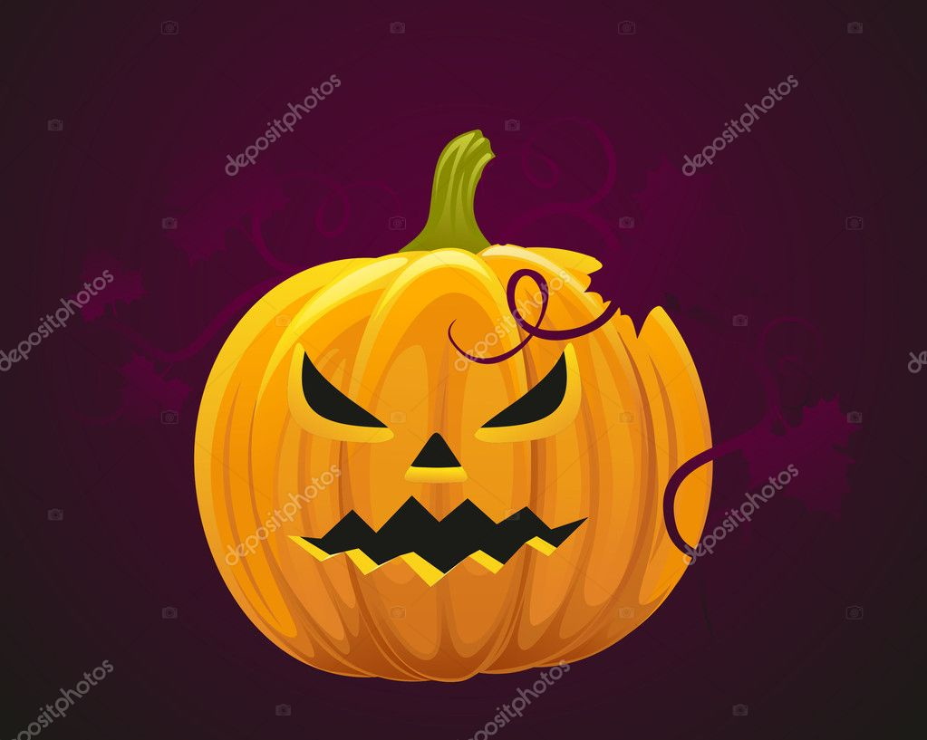 Halloween pumpkin — Stock Vector #4014851