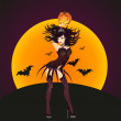 Royalty-Free Stock Vector Image: Halloween black witch