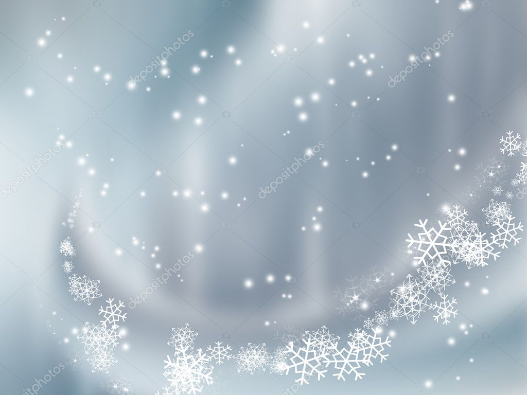 Falling snow - elegant background for your art design  Stock Photo #4163008