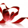 Stock Photo: Heart with a red ribbon