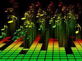 Equalizers en geluid — Stockfoto