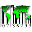 Stock Photo: Barcode world maps