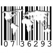 Barcode world maps — Stock Photo