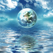 Earth above the water — Stock Photo