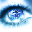 Planet is in the eye — Stock Photo