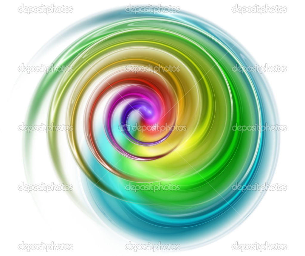 Abstract spectral spiral isolated on a white background  Stock Photo #4808859