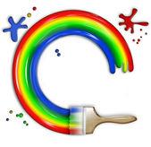 Schilderen van een regenboog — Stockfoto