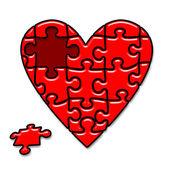 Puzzle heart — Stock fotografie