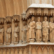 Tarragona medieval cathedral sculptures — Stock Photo