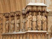 Tarragona mittelalterliche kathedrale skulpturen — Stockfoto