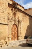 Gandesa church entrance (Catalonia, Spain) — Stockfoto