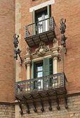 Casa Terrades (Casa de les Punxes) balconies, Barcelona — Stock Photo
