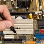 Printed circuit board diagnostics and measurement — Stock Photo